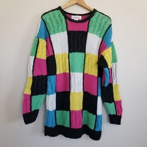 Jones New York Vintage Style Hand Knit Sweater L